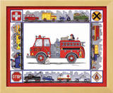Rescue Trucks Print by Marnie Bishop Elmer