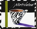 Zebra Mug Stretched Canvas Print by Cathy Hartgraves