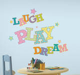 Laugh Play Dream Peel and Stick Giant Wall Decals Wall Decal