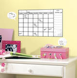 Universal Calendar Dry Erase Peel and Stick Wall Decals Wall Decal