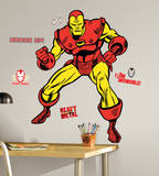 Marvel Classic Iron Man Peel and Stick Giant Wall Decals Wall Decal