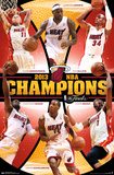 Miami Heat 2013 NBA Champions Sports Poster Poster