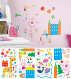 Lazoo Girl Peel and Stick Wall Decals Wall Decal
