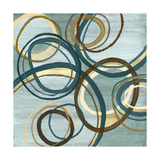 21 Blue Tuesday I Circles Prints by Jeni Lee