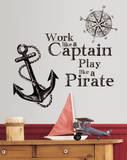 Work Like a Captain Quote Peel and Stick Wall Decals Wall Decal