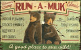 Run-A-Muk Large Wood Sign Wood Sign
