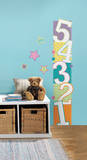 Patterned Numbers Growth Chart Peel and Stick Wall Decals Wall Decal
