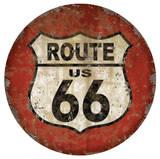 Route 66 Dome Sign Blikkskilt