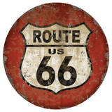 Route 66 Dome Sign Plakietka emaliowana