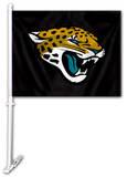 NFL Jacksonville Jaguars Car Flag with Wall Brackett Flag