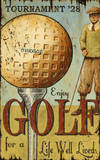 Enjoy Golf Large Wood Sign Wood Sign