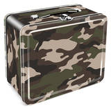 Camouflage Tin Lunchbox Lunch Box