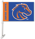 NCAA Boise State Broncos Car Flag with Wall Brackett Flag