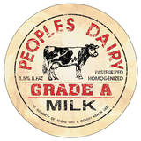 Milk Bottle Lid Dome Sign Plechová cedule
