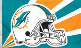 NFL Miami Dolphins Helmet Flag with Grommets Flag