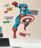 Marvel Classic Captain America Peel and Stick Giant Wall Decals Vinilo decorativo