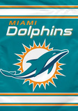 NFL Miami Dolphins 2-Sided House Banner Flag
