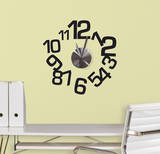 Contemporary Clock Peel and Stick Wall Decals Wall Decal