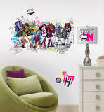 Monster High Group Peel and Stick Giant Wall Decals Wall Decal