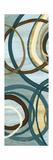 Tuesday Blue Panel I Circles Premium Giclee Print by Jeni Lee