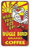 Bugle Bird Coffee Tin Sign Blechschild