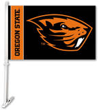 NCAA Oregon State Beavers Car Flag with Wall Brackett Flag