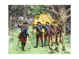 French Encampment Attacked by George Washington from Fort Necessity, French and Indian War, 1854 Giclee Print