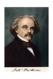 Author Nathaniel Hawthorne, with His Autograph Giclee Print