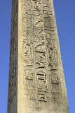 Hieroglyphics on Ancient Egyptian Obelisk from Luxor in the Place De La Concorde, Paris, 1800s Photographic Print