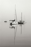 Red Sailboat II - BW Photographic Print by Tammy Putman