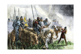 English Army on the Morning of Battle at Agincourt, Hundred Years' War, 1415 Giclee Print