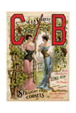 Corsets Advertised by CB a La Sprite, Late 1800s Giclee Print