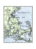 Vinland Locations on Cape Cod, as Portrayed by Charles Rafn, from Accounts, Old Norse Manuscripts Giclee Print