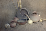 Salado Pottery and Gourds at Besh-Ba-Gowah Archaeological Park, circa 1225-1400 AD, Arizona Photographic Print