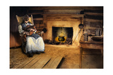 African-American Mother Rocking and Singing to Her Child in a Cabin Giclee Print