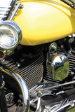 Yellow Motorcycle Photographic Print by Tammy Putman