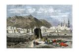 Tomb of the Prophet Muhammad, Medina, Arabia, 1800s Giclée-tryk