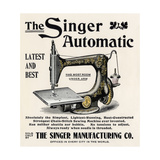 Advertisement for the Singer Automatic Sewing Machine, 1890s Giclée-vedos