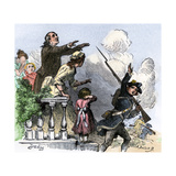 With His Family's Blessings, a Minuteman Joins the Colonial Revolt, 1775 Giclee Print