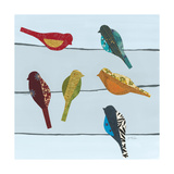 Birds on a Wire II Giclee Print by Jeni Lee