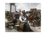 Immigrants Waiting for Entry at Castle Garden, New York Harbor, 1880s Giclee Print