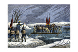 Continental Army Crossing the Delaware River at Night to Attack Trenton, December 1776 Giclee Print