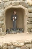 Santos Niche of Saint Francis, St. Francis of Assisi Churchyard, Ranchos De Taos, New Mexico Photographic Print