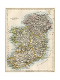 Map of Ireland, or Eire, 1870s Giclee Print