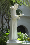 Statue of Saint Francis of Assisi in the Garden of San Diego Mission, California Photographic Print