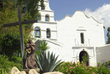 Statue of Father Junipero Serra in Front of San Diego Mission, First of the Spanish Missions in CA Photographic Print
