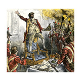 Sir George Cockburn Calling on British Troops to Vote to Burn Washington DC, 1814 Giclee Print