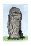 Ogham Inscription on a Stone at Newton, Aberdeenshire, Scotland Giclee Print
