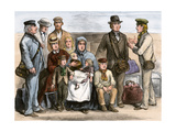 Mennonite Immigrants from Russia Arriving in New York for Journey to Dakota Territory, 1873 Giclee Print