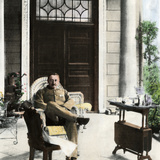 Cecil John Rhodes, British Colonial Administrator, on His Verandah Near Cape Town, C. 1900 Photographic Print